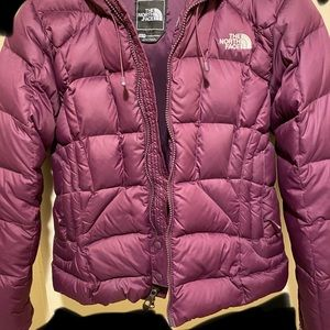 North Face XS down puffer ski coat 600 🍆 hooded